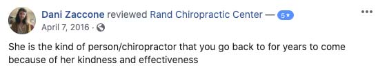 Chiropractic Palatine IL Testimonial Rand Chiropractic Center 04 07 2016