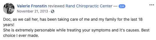 Chiropractic Palatine IL Testimonial Rand Chiropractic Center 11 21 2013